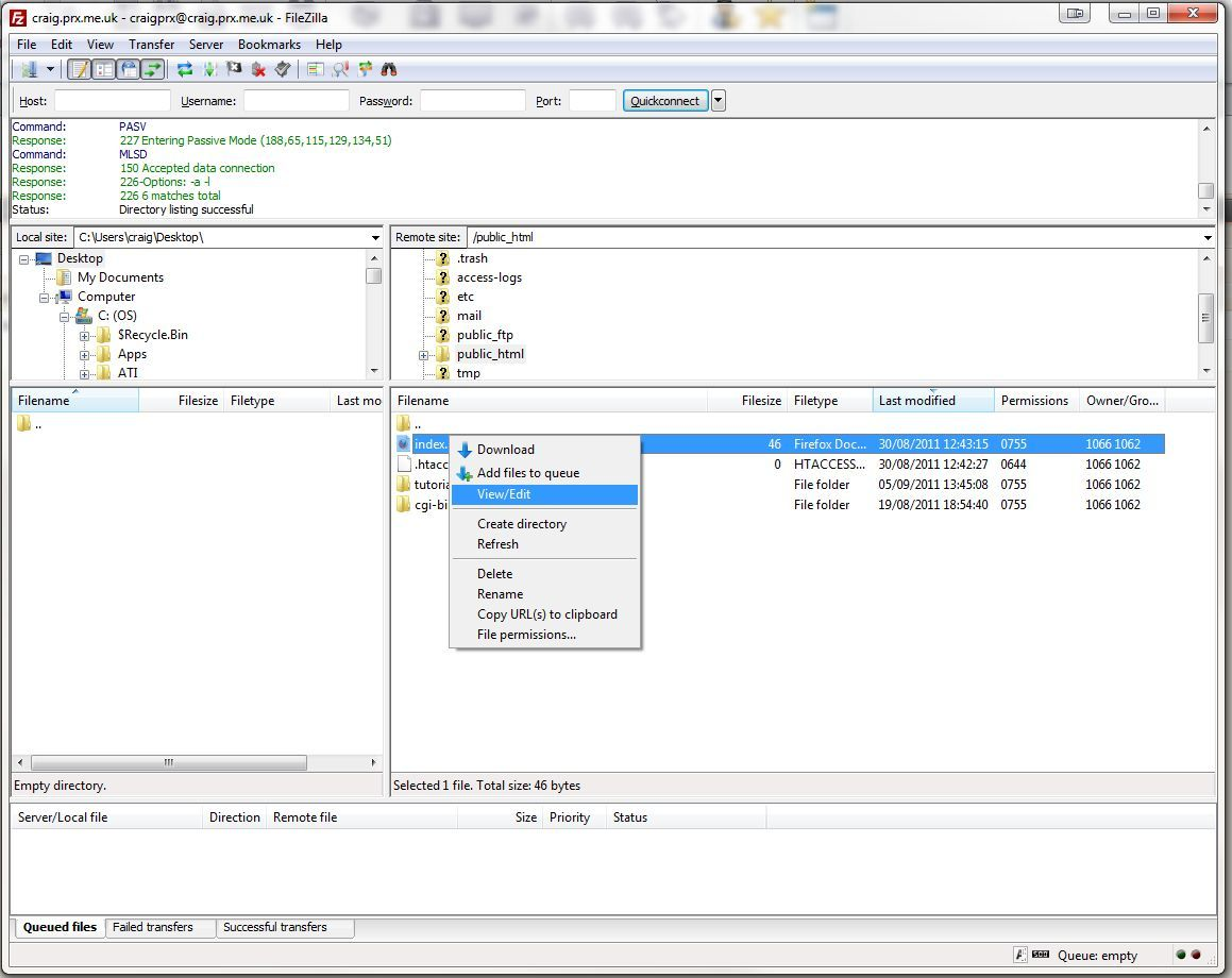 Filezilla edit with notepad++