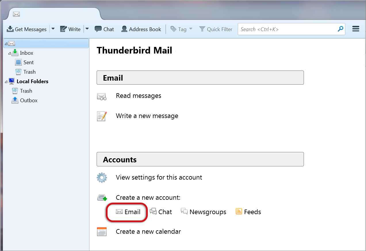 Thunderbird New Mail 1